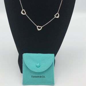 ✨TIFFANY & CO. ELSA PERETTI 3 OPEN HEART NECKLACE✨